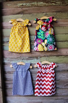 Girls Beach Dress Red ChevronGreek Key Fabric by ShelbyJaneandCo