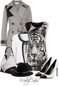 """""""Prohibition Tigress"""" by mollycakes ❤ liked on Polyvore"""