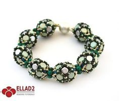 Beading Tutorial Bea Bracelet with Honeycomb beads and Miniduo beads-Beading Tutotials and Patterns - Ellad2