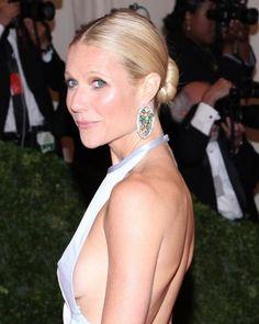 Gwyneth Paltrows sleek chignon