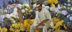 Portrait of Louis Comfort Tiffany, by artist: Joaquin Sorella Y Bastida (1863-1923). Before becoming a Gilded Age decorator in NYC, Louis Comfort Tiffany started his career as a painter, and in c.1866-67 studied at the National Academy of Design. This painting is a part of the Driehaus Museum Collection. ~ {cwl}