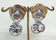 Mooie grote Clip Oorbellen in zilverkleurige metaal : Artikel Mien (OC-CC-72) 14,95 euro #oorclips, #clipoorbellen,