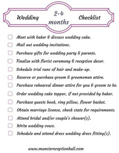Planning A Wedding In 2 Months Checklist
