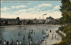 North Park, the wading pond Fall River Massachusetts, Vintage Fall, Local History, Historical Society, New England, Pond, Business, Garden, Sweet