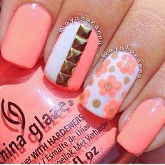 Peach floral