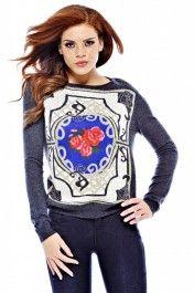 Metallic Rose Knit Jumper
