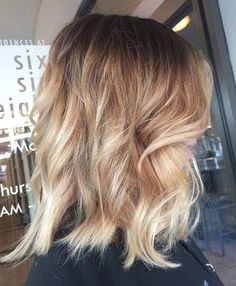Sunkissed Blonde Lob Hairstyle