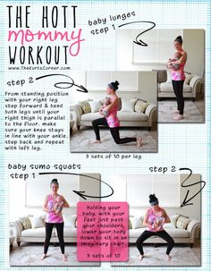 Get your pre-baby body back with The Hott Mommy Workout! Even baby gets to join the fun!