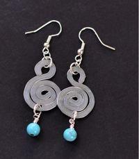 Hypnotic Flattened Spiral Earrings