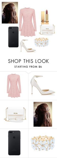"""""""Today has been pretty uneventful"""" by lvcph ❤ liked on Polyvore featuring Jimmy Choo, Charlotte Russe and Yves Saint Laurent"""