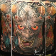 Yallzee's Tattoo of the day by Henrik Grysbjerg