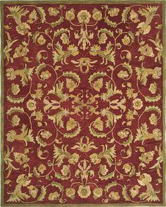 Safavieh Anatolia AN527A (Burgundy, Sage)