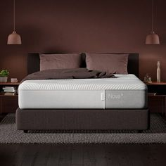 Sleep soundly on The Casper Nova Hybrid mattress. The Nova Hybrid provides support where you need it most with the luxurious plushness you crave. Available in 6 sizes. Bedroom Apartment, Home Bedroom, Modern Bedroom, Master Bedroom, Bedroom Decor, Bedroom Ideas, Upholstered Bed Frame, Bedroom Wall Colors, California King