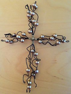 pearled, wired cross