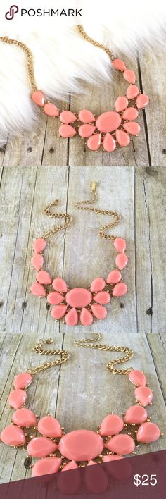 """Pink Statement Necklace Soft baby pink statement necklace. Perfect for any occasion!  Necklace measures Approx 17.5"""" with 3"""" extender. Oh So Fancy Jewelry Necklaces"""