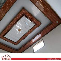"""TOKO REKLAME INDONESIA on Instagram: """"Punya rencana pasang plafon di rumah ? Toko reklame punya loh jasa buat plafon pcv yang bagus. Inginnya pesan sekalian pasang ? Biar gak…"""" Ceiling Wood Design, Lcd Wall Design, Pop False Ceiling Design, Ceiling Design Living Room, Pop Design, Terrace Decor, Pvc Panels, Wardrobe Design Bedroom, Wooden Ceilings"""