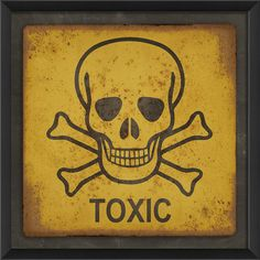 Toxic Sign Framed Graphic Art