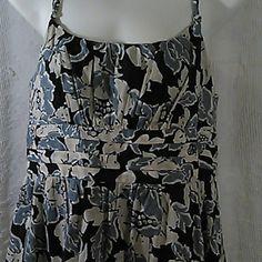 Loft dress Very pretty blues and cream. Zips up side. Great condition. Smoke free home. LOFT Dresses Midi