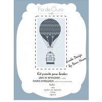 Balloon - Kit para bordar ponto cruz