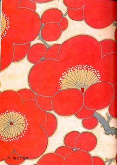 Sample page of a traditional Japanese pattern from the Kimono Pattern Design Book Series (Nagajyuban).use this for paper lanterns? Japanese Textiles, Japanese Patterns, Japanese Fabric, Japanese Prints, Japanese Design, Japanese Art, Traditional Japanese, Japanese Flowers, Japanese Blossom