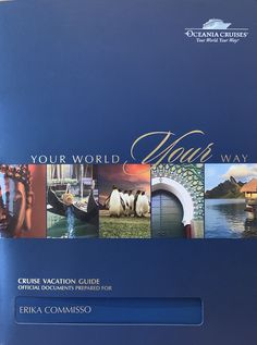 Journey with Erika World Cruise, Pre And Post, Cruise Vacation, Amazing Destinations, Cruises, Booklet, Journey, Cabin, Adventure