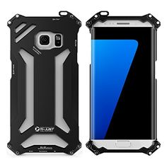 L, Metal Case Cover Samsung Galaxy Edge Black R-Just Shockproof Armor Cases Galaxy S7, Samsung Galaxy, Aluminum Metal, S7 Edge, Cover, Gadgets, Amazon, Black, Amazons