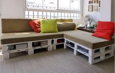 DIY Pallet Sectional Sofa for Living Room | 99 Pallets