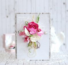 Touching the tenderness stunning floral card