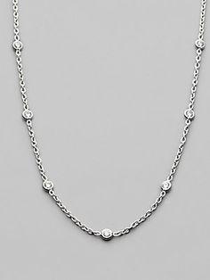 Roberto+Coin Diamond+&+18K+White+Gold+Necklace