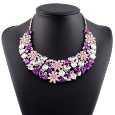 Graceful Rhinestone Faux Crystal Blossom Water Drop Necklace For Women-5.84 and Free Shipping| GearBest.com