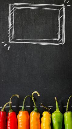 ↑↑TAP AND GET THE FREE APP! Art Creative Blackboard Chalk Food Pepper Painting HD iPhone 6 Plus Lock Screen