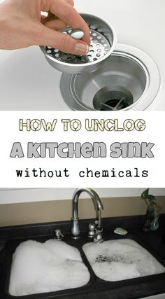 How To Unclog A Double Sink Kitchen sink clogged, Unclog