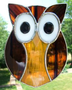 Owl Stained Glass Suncatcher.
