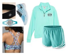 """""""#tensetsforjude day 1!!!"""" by mckinley02 ❤ liked on Polyvore featuring Victoria's Secret PINK, NIKE, Timex, lululemon and 10setsforjude"""