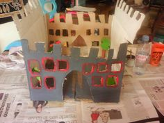chateau  en carton