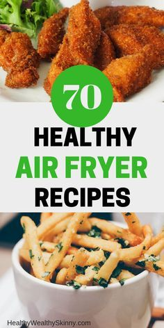 Get 70 Healthy Air Fryer Recipes. These quick and easy recipes are designed to make breakfast, lunch and dinner meals healthy and fast for your family. Air Fryer Oven Recipes, Air Frier Recipes, Air Fryer Dinner Recipes, Recipes Dinner, Dinner Ideas, Dessert Recipes, Dinner Options, Easy Cooking, Healthy Cooking