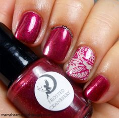 Mama Hearts Polish: Bellaluna Cosmetics Sparkling Cranberry swatch and review.