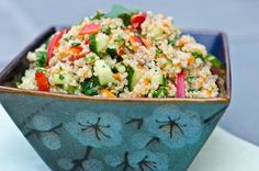 Thai Quinoa Veggie Salad with Fresh Herbs and Lime Vinagrette