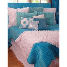 Chiffon Bedding in Turquoise and White from PoshTots