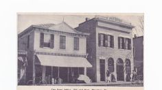 """The """"new"""" and """"old"""" post offices in Phoebus are celebrated in this 1913 image."""