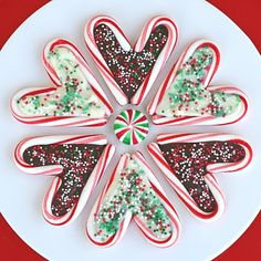 Candy cane hearts.