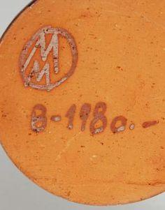 Mario Mascarin Swiss Studio Pottery - MM mark WW mark