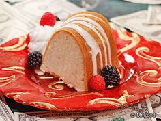 Million Dollar Pound Cake with berries, peaches and whipped cream.  The Million Dollar Pound Cake is the best I've ever made or eaten - hands down.  I use the recipe from Southern Living though there are lots out there.