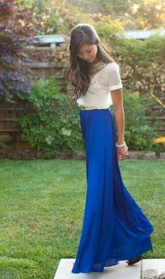 Rachel Zoe Vanessa Silk Skirt and Sequin Collar Blouse