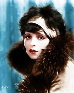 Clara Bow 1920's silent film star.