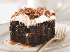Toffee Poke Cake Recipe