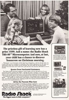 1978 TANDY TRS 80 Christmas Computer Advertisement Radio Shack TRS80 by phorgotten