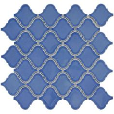 Blue Moroccan inspired tile