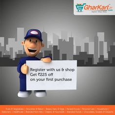Hey guys! Register & shop with us now and get special deals. A wide range brands now available at Gharkart. To know more about offers Visit: Gharkart.com Today! ‪#‎Gharkart‬ ‪#‎Onlineshopping‬ ‪#‎Groceries‬ ‪#‎Fruits‬ ‪#‎Vegetables‬ ‪#‎FreeDelivery‬ ‪#‎FastDelivery‬ ‪#‎HomeDelivery‬