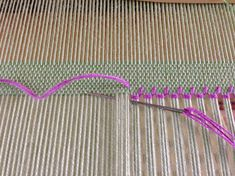 Hemstitching in four easy steps! - How to secure the ends when using a contrasting color for pizzazz.